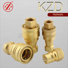 KZD ISO 7241 Series B hydraulic hose brass quick disconnect coupling