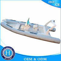 Double Fiberglass Hull Inflatable Fishing Boat