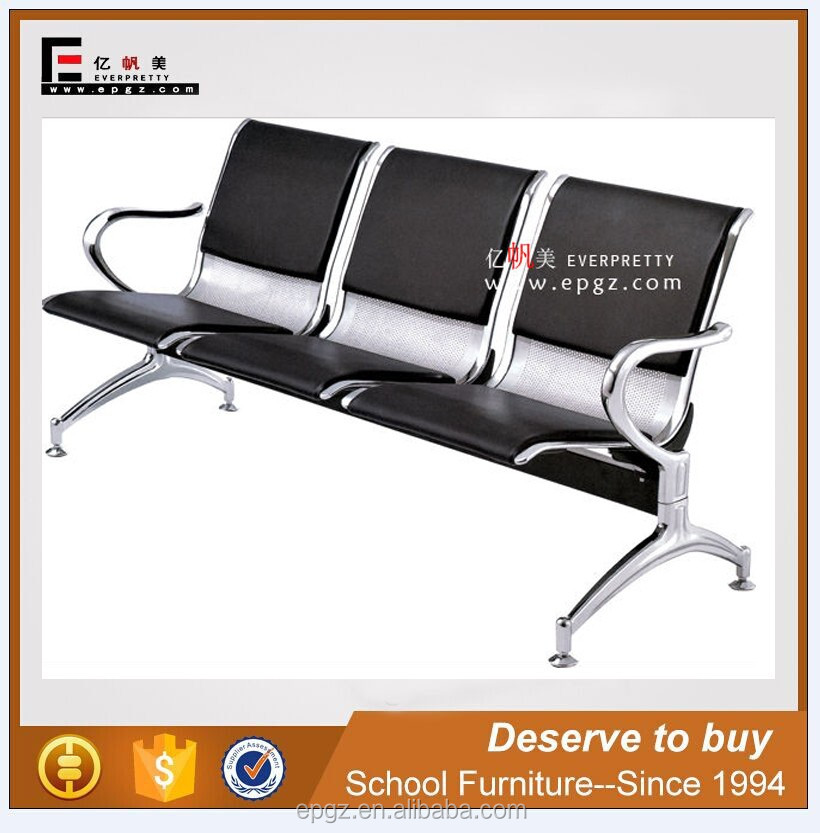 airport stainless steel seating bench waiting chair