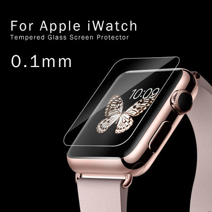 2016 Hot Sale Quality Ultra Thin 0.1mm Laptop Tempered Glass Roll Material Screen Protector for Apple Watch