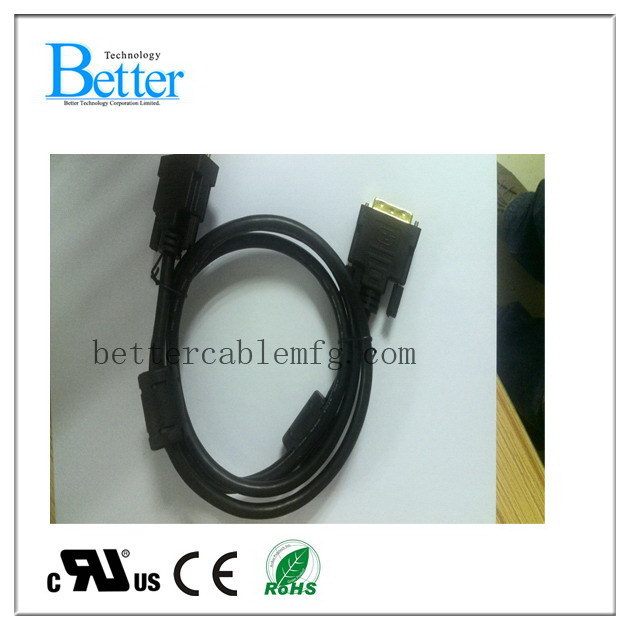 Super quality promotional 18 5 male to 18 5 female dvi cable