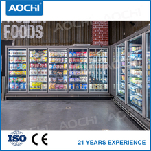 Quality commercial supermarket remote close multideck display freezer for Ice cream