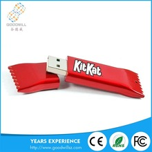 Hot sale bulk custom logo OEM Candy Pendrive Plastic Usb Flash Drive with logo printing