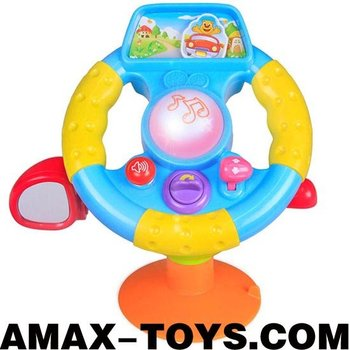 bte-569916 music steering wheel Kids multifunctional cartoon steering wheel with music and lights