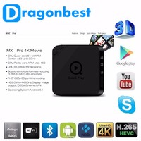 Hot Selling Amlogic S905 MX Pro android 5.1 tv box MX pro 10/1000 internet with kodi and add-ones