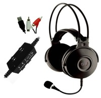 Wired gaming metal headset with LED logo light & removable mic for PS4 PS3 Xbox 360 Xbox one PC, chat and game volume controls