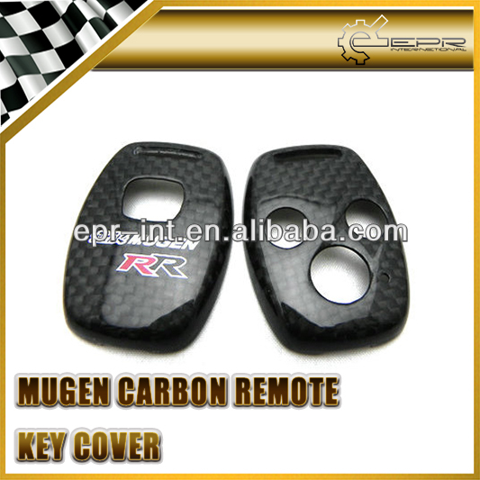 Custom made Special Design Carbon fiber two hole & three hole remote car key case key cover