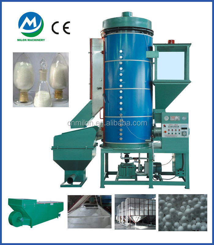 Continuous eps expandable polystyrene beads making machine