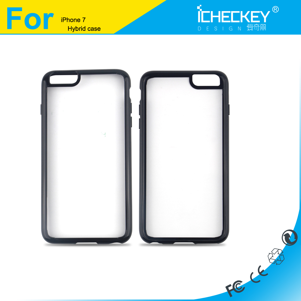 Best Quality Hybrid TPU+PC Soft TPU Bumper Hard Anti-scratch PC Shockproof Clear Case for iPhone 6s