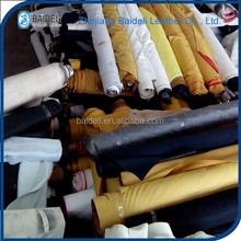 leather factory china B grade pvc leather stocklot for sofa, bed, shoes, bag etc