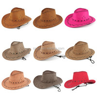 2015 Hot Sale Cheap Multicolor Felt Leather Cowboy Hat for audlt and children