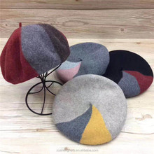 design your own cheap ladies fashion flat beret caps for sale