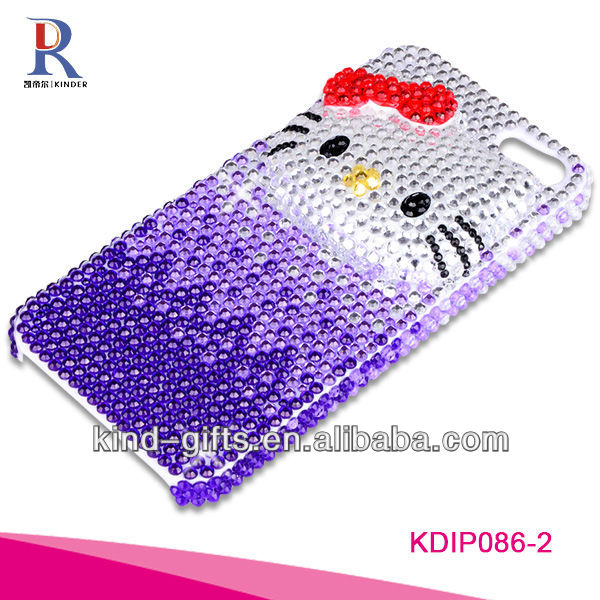 Bling Rhinestone Design Custom Cell Phone Cases For Iphone5C 5S China Supplier