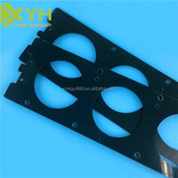 Custom ABS machined plastic parts by material cutting, CNC turning and CNC milling