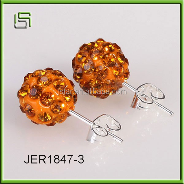 Wholesale Shambhala colorful double-sided stud acrylic earrings
