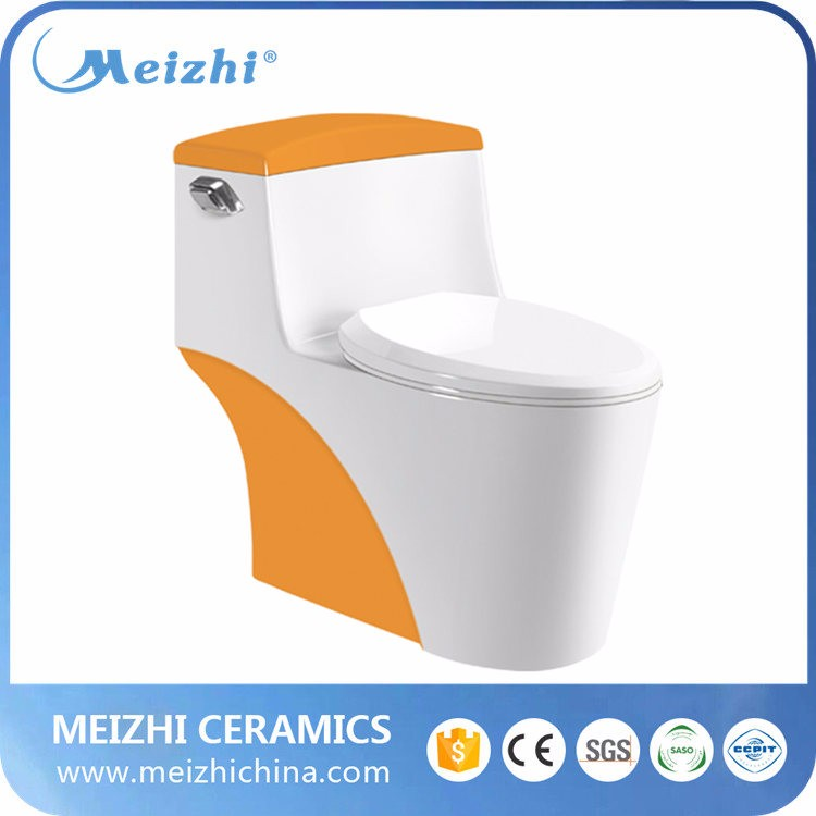 Colorful sanitary ware one piece women toilet