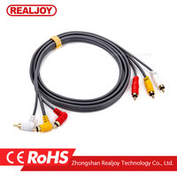 3 RCA to 3 RCA male to male 1.8m audio and video cable