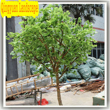 high quality nature trunk evergreen garden decorative artificial gingko tree with cheap price