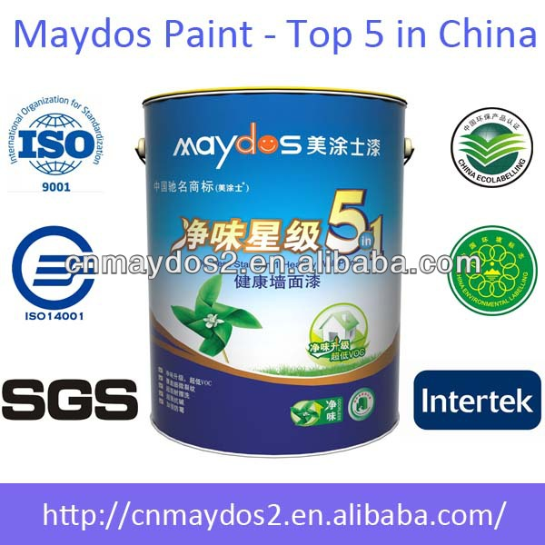 Maydos Zero VOC Acrylic Emulsion Paint Washable Interior Wall Paint