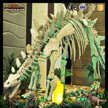 DW-0937life size artificial stegosaurus dinosaur fossils for sale