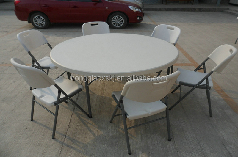 rental use plastic table/120cm round size table for banquet/events catering prevent broken high quality poker card play table/4'