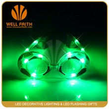 Hot football led flashing light sunglasses for party/led sunglasses