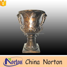 golden flower bronze galvanized ceramic flower pot NTBF-FL134S
