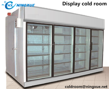 China Supermarket commecial glass door display cold room
