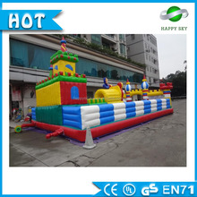 Top quality 0.55mm PVC Durable DIY inflatable amusements park, kids inflatanble cartoon funny city for sale