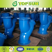 API ductile cast iron flanged Y strainer for water