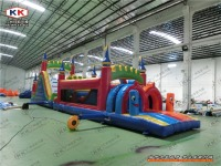 New Extreme Rush Obstacle Course, Commercial Inflatable Obstacle Course