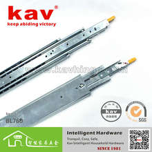 71mm wide ball bearing heavy duty metal draw runners