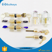 Hot sale special offer seven transparent padlock in one pack for locksmith practise lock pick skills latest gift items
