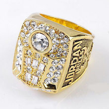 Charm Jewelry 2015 New Design 1998 1997 1996 Three Years Consecutive Professional Basketball Game Champion Gold Ring
