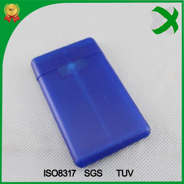 Hot selling PP plastic credit card 20 ml perfume bottle sprayer