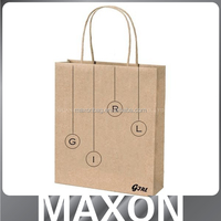 Dongguan factory Pretty!!! tote kraft paper bag for shop