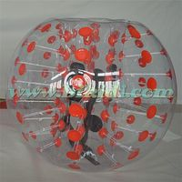 PVC bubble football, hot sale popular inflatable bumper ball for kids D1005A-2