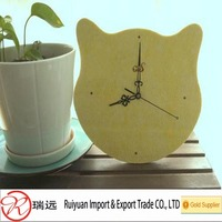 Alibaba Customized Eco-friendly Cute Wall Felt Clock For Kids Room Decoration