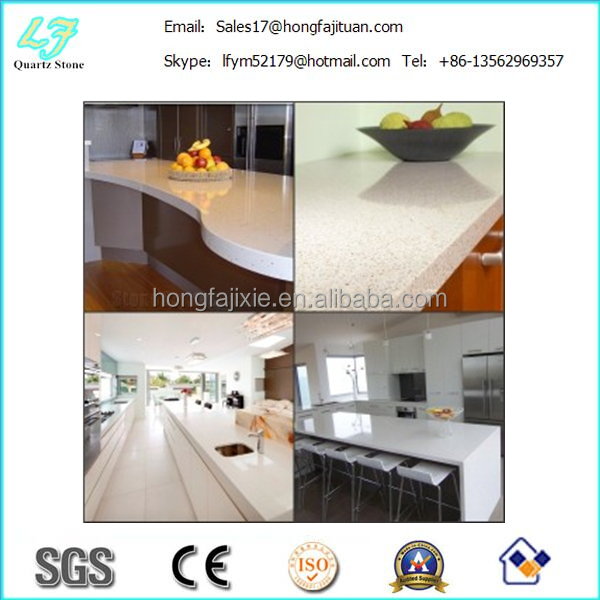 New manufacturer white quartz countertops, Polished surface quartz table top