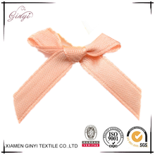 Wholesale pre-made satin ribbon pre-tied satin ribbon bow with elastic loop