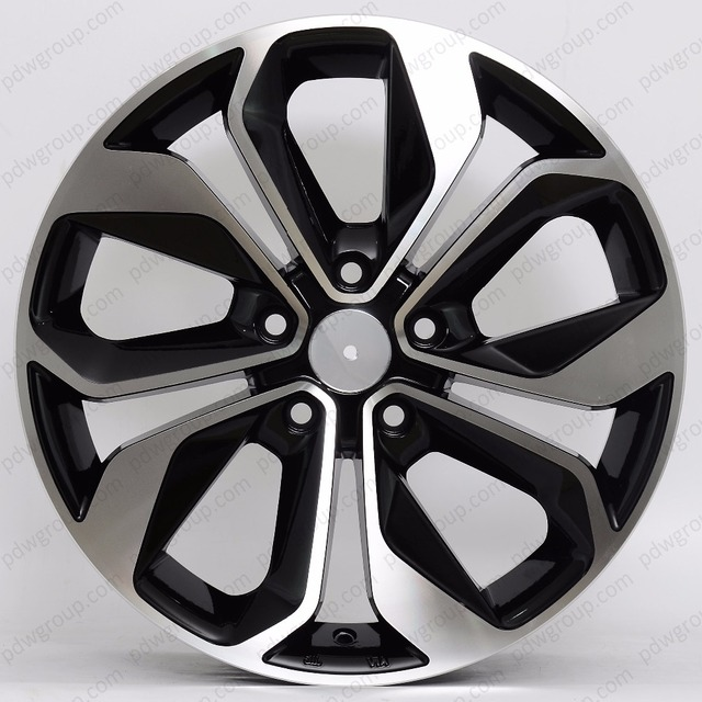 Aftermarket car alloy wheel from China,Gloss Black with machine face wheels