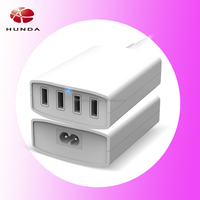 Desktop Charger Power USB Wall Plug 4-port family-sized wall charger for iPad Air, for iPad mini Retina, for Samsung Note
