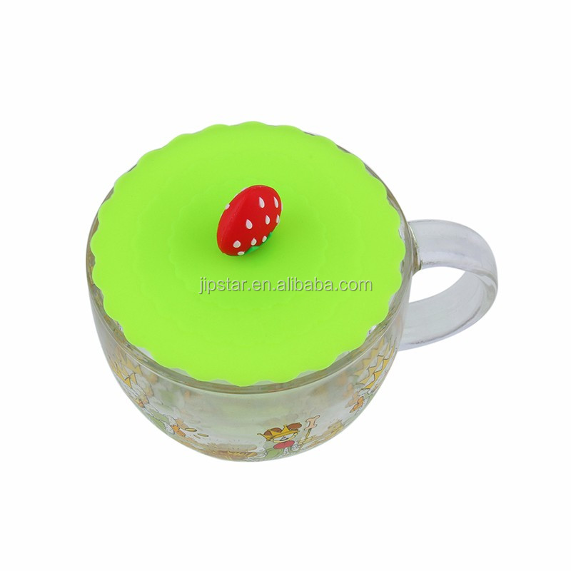 Multicolored Dia 16.8cm biodegradable silicone cup lid