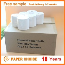 2016 high quality Fax paper roll thermal paper jumbo rolls