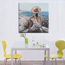 Single Panel Art Crafts handmade Sexy women nude neck Oil Painting Fashion on Canvas New Products