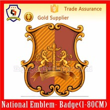 COMPANY LOGO MASS PRODUCTION METAL BADGES WITH ANY SIZES, WHOLESALE GOLD PLATE (HH-emblem-107)