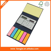 Mini sticky note pads with solar energy calculator