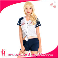 Sexy young girl adult baseball fancy dress costume,basbell cheerleader costume