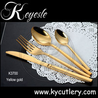 Black plated cutlery,royal colors plated cutlery set,dinnerware brand names