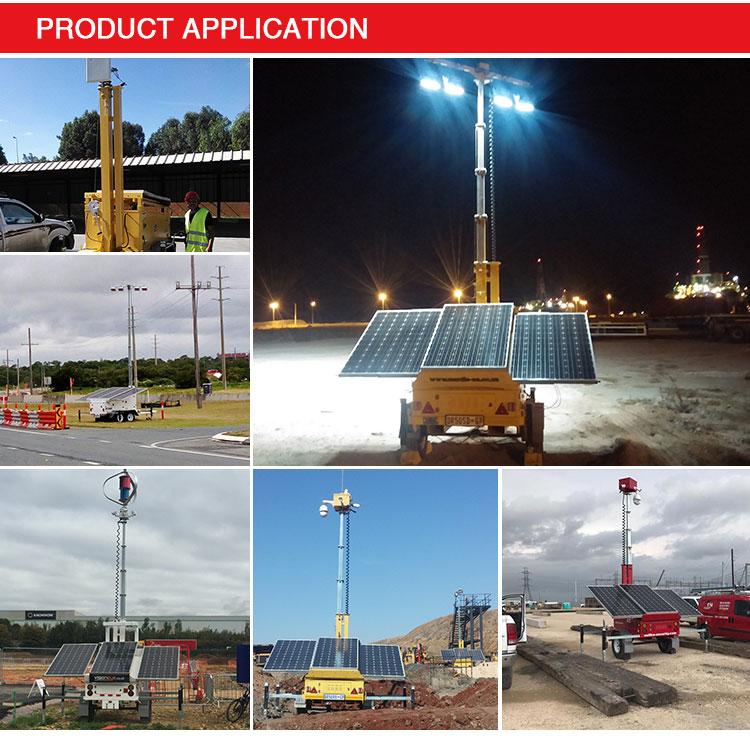 400watts Led Mobile Solar Mobile Light Tower, View